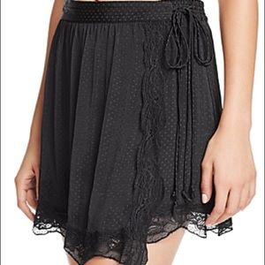 Free People lace slip skirt